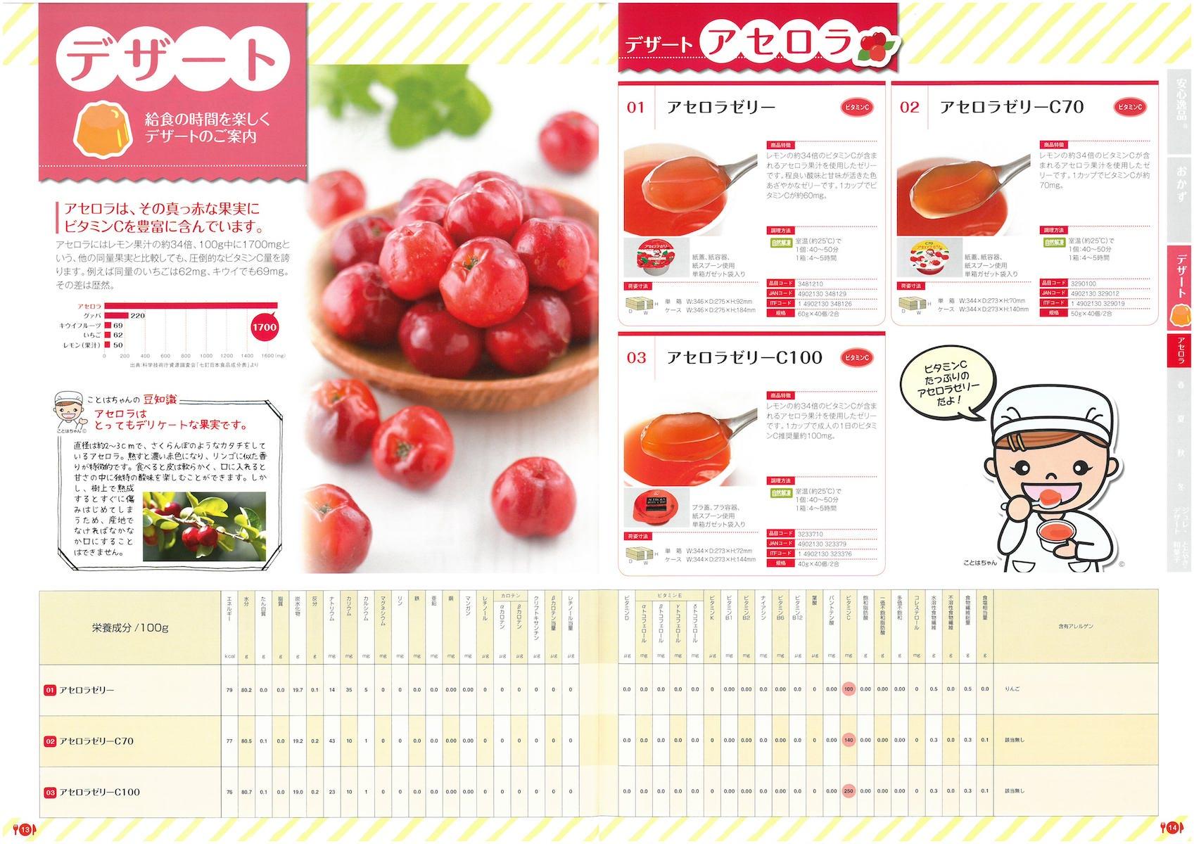ニチレイフーズ 学校給食向け商品カタログ