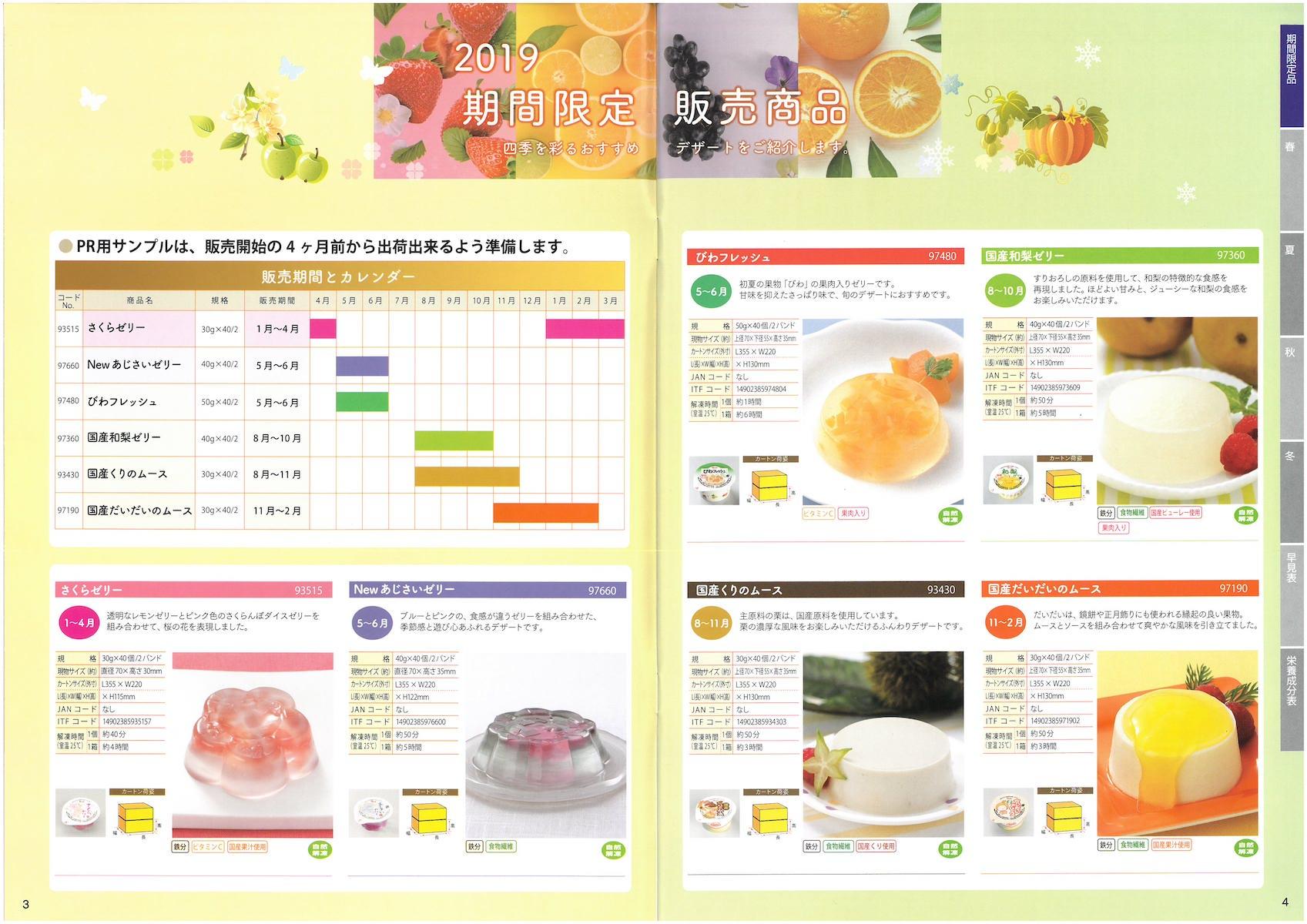 日東ベスト2019業務用デザート総合カタログ DESSERT Grand Catalog